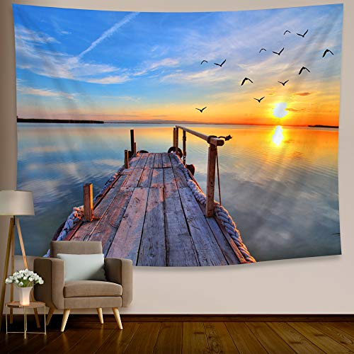 """ARTISAN Large Wall Hanging Tapestry - Wall Tapestry Decorations for Bedroom - Wall Tapestries for Living Room - Sun Nature Landscape Tapestry 72"""" x 60"""""""