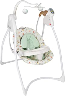 Graco Compact And Comfortable Baby Swing, White And Mint Green, Pack Of 1