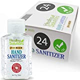 purse parts - Hand Sanitizer Gel (24 Pack - 2oz Bottle) - 75% Alcohol - Kills 99.99% of Germs - Unscented Antibacterial Gel with Vitamin E & Aloe for Moisturizing in Mini 2 Ounce Bottles