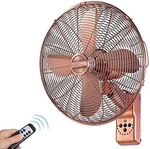 Ventilador oscilante montado en la pared Retro All Copper Wall Fan, 16