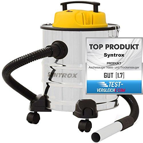 Syntrox Germany 2 in 1 Aschesauger und Staubsauger Edelstahl 20 Liter mit Motor Feinstaubsauger Aschestaubsauger Industriesauger Industriestaubsauger