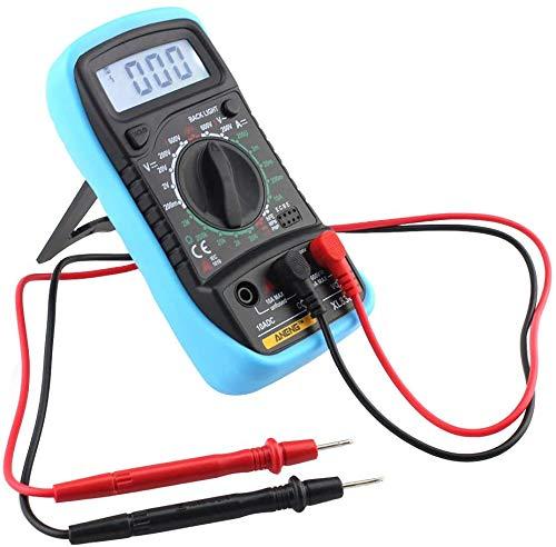 Yagosodee Multímetro Digital LCD Voltímetro Voltaje CA Y CC Comprobador de Circuito Zumbador Nuevo