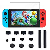 Protector Kit for Nintendo Switch Include Kingtop Nintendo Switch Tempered Glass Screen Protector+Dust Proof...