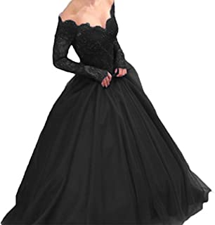 Women's Off Shoulder Long Sleeves Ball Gownor Bride