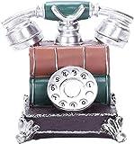 XINKONG Decoración para el hogar Vintage Resina Teléfono Figurine Hucha Bank Money Bank Bank Rotary Dial Teléfono Crafts 17x14.5x16cm Tarro de Monedas