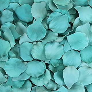 Koyal Wholesale 200-Pack Silk Rose Petals, Diamond Blue