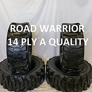 Set of Four (4) 12-16.5 Skid Steer Loader Tire, 14 PLY, NHS SKS 400