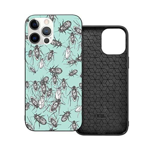 Funda para iPhone 12 a 6.1 con diseño de cucaracha, a prueba de golpes, con agarre de poliuretano termoplástico