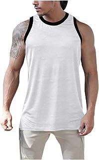 Camisetas Tirantes Hombre Gym Camiseta Deportiva Chaleco sin Mangas Verano Top Fitness Deporte Blusa Sólido T Shirt Cómodo...