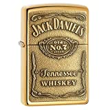 ZIPPO(ジッポー) Jack Daniel's Lighters (ジャック ダニエル ライター) 日本未発売 High Polish Brass Emblem [並行輸入品]
