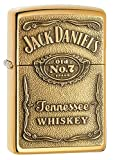 Zippo 254BJD.428 Jack Daniel's Tennessee Whiskey Emblem Pocket Lighter, High Polish Brass, 5 1/2 x 3 1/2 cm