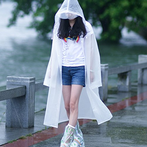 Zhihui poncho ZZHF Yuyi Impermeabile Trasparente Impermeabile Donna Poncho Escursionismo Zaino Equitazione Impermeabile 5 Colori di Dimensioni opzionali Opzionale