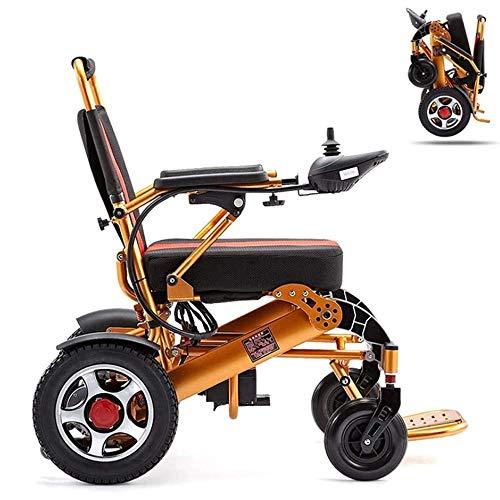 Angelay-Tian Silla de Ruedas de Aluminio, Silla de Ruedas eléctrica Liviana Dispositivo de Movilidad de Silla de Ruedas eléctrica Plegable para Personas Mayores, discapacitadas y discapacitadas