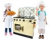 Leomark SpielKÜCHE KinderKÜCHE aus Holz Vitage 30 x 57 x 75 KinderKÜCHE SpielKÜCHE Zubehör Kitchen KinderspielKÜCHE Top QUALITÄT