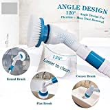 WENGTY ABS Plastic Electric Spinning Scrubber Machine Floor Cleaning Bathroom Tiles Cleaner Tool