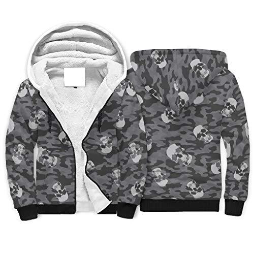 Sudadera con capucha para hombre y mujer, con cremallera y capucha para otoño, color blanco, 2 m