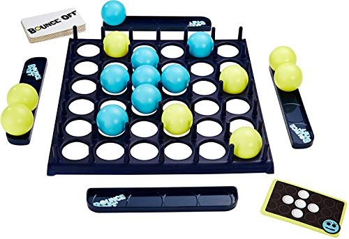 Bounce Off Game with Bouncing Pattern Challenges, for Family, Teens, Adults and Kids, with 16 Balls, 9 Challenge Cards and Game Grid, Makes a Great Gift for 7 Year Olds and Up