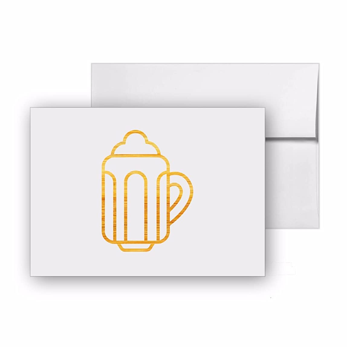 Beer Alcohol Drink Cup, Blank Card Invitation Pack, 15 cards at 4x6, with White Envelopes, Item 20584 vuhdmux870217