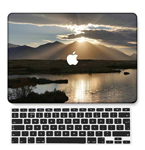 GangdaoCase Plástico Ultra Delgado Ligero Estuche RígidoDiseño Cortado Compatible 2020 Nuevo MacBook Air 13 Pulgadas con Touch ID con UK Cubierta Teclado A2179/A2337 M1 (Paisaje B 0408)