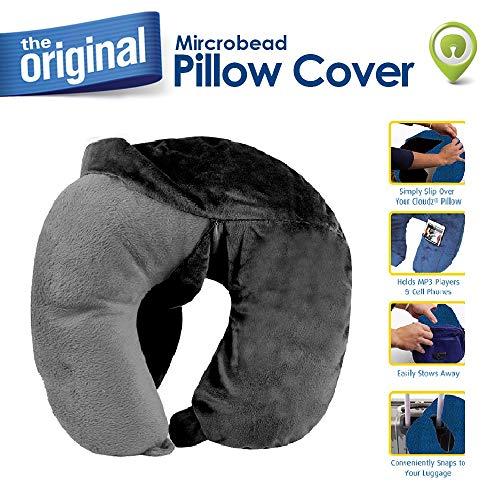 Cloudz Washable Travel Neck Pillow Cover - Black