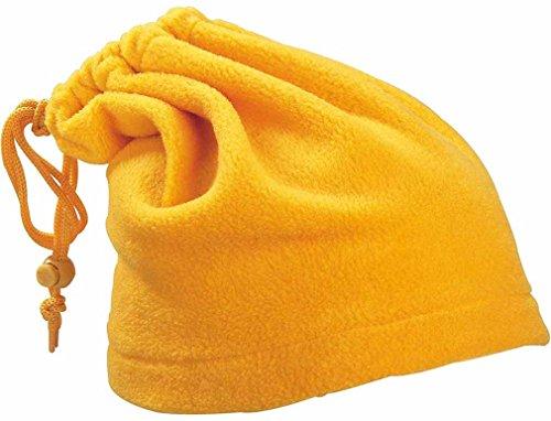 Fascia scalda collo morbidissimo pile trasformabile in cappello altezza 24 cm 5 colori (giallo)