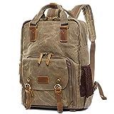 Mochila impermeable ligera para fotografía, bolsa para cámara profesional, mochila para exteriores, mochila para cámara de hombro, gris, talla única (color: marrón, talla: talla única)
