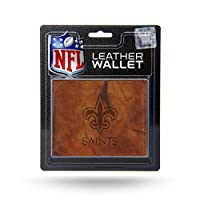 NFL Rico Industries Embossed Leather Billfold Wallet with Man Made Interior, New Orleans Saints
