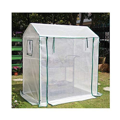 XIONGSHI Invernadero de jardín de policarbonato de Aluminio con Techo Ajustable y Gran Espacio de Cultivo