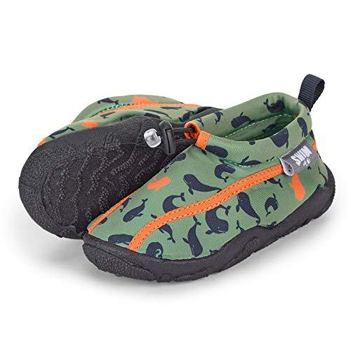 Sterntaler Baby - Jungen Aqua-Schuhe mit Gummizug und rutschfester Sohle, Farbe: Grün, Größe: 21/22, Alter: 18-24 Monate, Art.-Nr.: 2512102