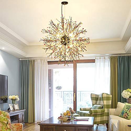 K.LSX creatieve kroonluchters plafond verlichting, 8-kops industriële Steampunk verlichting hanglampen moderne eenvoudige hanglamp voor slaapkamer woonkamer eetkamer bar hal