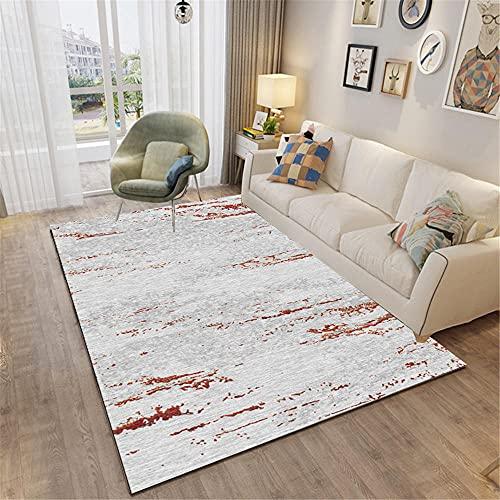 Alfombra Bambu Alfombra de la Sala de Estar marrón borroso patrón Antiguo con Alfombra Duradera Gris alfombras habitacion 120X160CM alfombras Infantiles Juegos 3ft 11.2''X5ft 3''