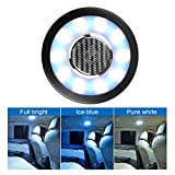 Teguangmei Auto Car Interior Ceiling Roof Dome Light Fixture with USB Rechargeable 20LED Car Dome Lamp Universal for Car Truck Trailer Camper Motorhome Boat(White Blue Light)