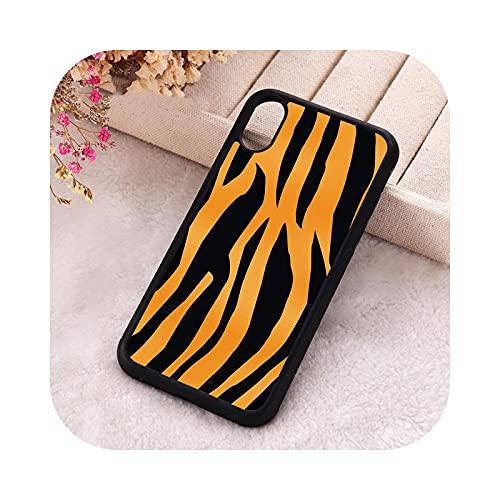 ZaHome 5 5S SE 2020 Fundas para iPhone 6 6S 7 8 Plus X Xs Max XR 11 12 Mini Pro Silicona Suave TPU Cebra Negro Amarillo Para iPhone SE 2020