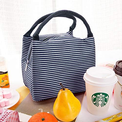 HeBiShiZeLiJianCaiXiaoShouYouXianGongSi Isolierung-Speicher-Beutel-Handtasche Multifunktionstuch Hitze Erhaltung Kälte, Größe: 23x17x15cm, einfach und elegant (Color : Blue)