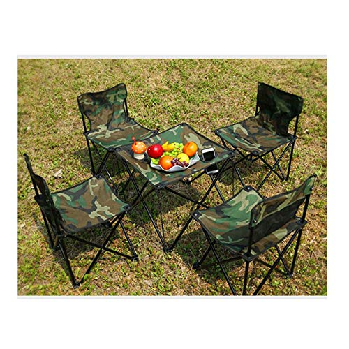 Tisch- und Stuhlset im Freien Tragbarer Grill-Campingstuhl, tragbarer Tisch und Stuhl mit selbstfahrender Tisch, Klapptisch und Stuhl-Kit, Picknicktisch und Stuhl im Freien