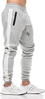 FLYFIREFLY Men's Gym Sport Pants Bodybuilding Workout Running Jogger Slim Fit Sweatpants