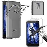 PHONILLICO Coque Huawei Honor 6A + Verre Trempé Film Protection Ecran - Housse Etui Gel TPU Silicone Transparent Protection...