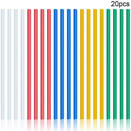 20 Pieces Binding Bars Slide Grip Binding Bars Report Cover A4 Spine Bars for School and Office, 12 Inch, 40 Sheet Capacity (5 Colors, 1.2 cm)