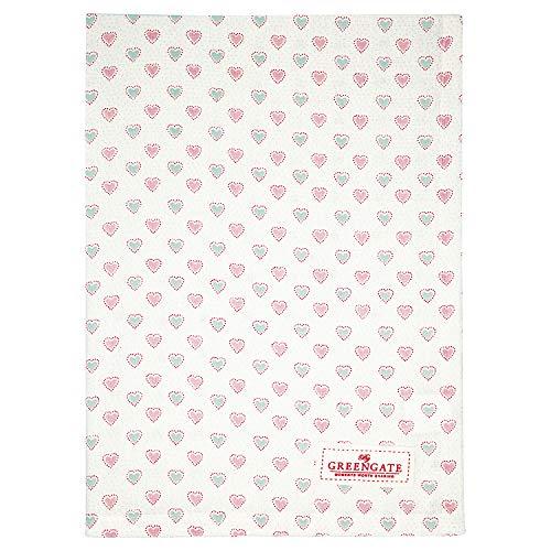 GreenGate - Küchentuch, Geschirrtuch, Trockentuch - Penny - Baumwolle - White - 50 x 70 cm