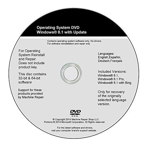 Windows 8 8.1 32 Bit 64 Bit System Restore Full Install Recovery Reinstall Home Pro Repair Disc