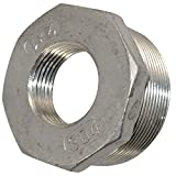 2' Male x 1' Female Thread Reducer Bushing Pipe Fitting, Adapter, Stainless steel SS 304 NPT