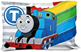 Jay Franco Thomas & Friends Stitch in Time 1 Single Reversible Pillowcase - Double-Sided Kids Super Soft Bedding (Official Mattel Product)