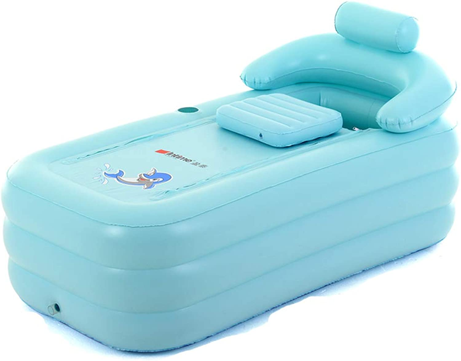 Bathtub Bathtub Bathtub Adult Bathing Bathtub Thicken PVC Electric Pump (color   Green, Size   84  160  64cm)