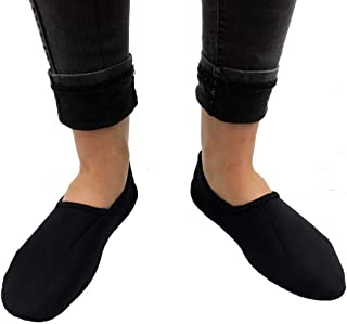 Magnetic Therapy Slippers All North Pole Magnets Comfortable & Warming (Black, Large - Women's 10+ & Men's 9-10)