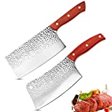 KYTD 7-inch Meat Cleaver Knife, Professional...