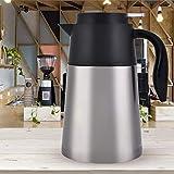 Olla de agua con aislamiento al vacío, olla de pared doble 1.3L 1.6L, aspiradora para agua caliente hogar cocina fiesta chocolate bebidas(1.6L)