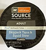 SIMPLY NOURISH Adult Cat High Protein Grain Free Pack of 6-2.8 Ounce Cups (Shipjack Tuna & Squid Stew (flaked))