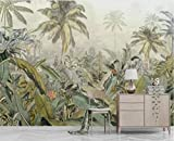 Papel Pintado Papel Tapiz De Hojas Tropicales Murales De Pared Papel Tapiz Fotográfico Fotográfico Impreso Murales De Selva Tropical Mural