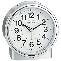 Seiko 5 Bedside Alarm Clock with Dial Light, Beep & Sooze
