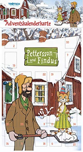 Trötsch Pettersson und Findus Adventskalenderkarte: Weihnachtskalender zum Verschicken